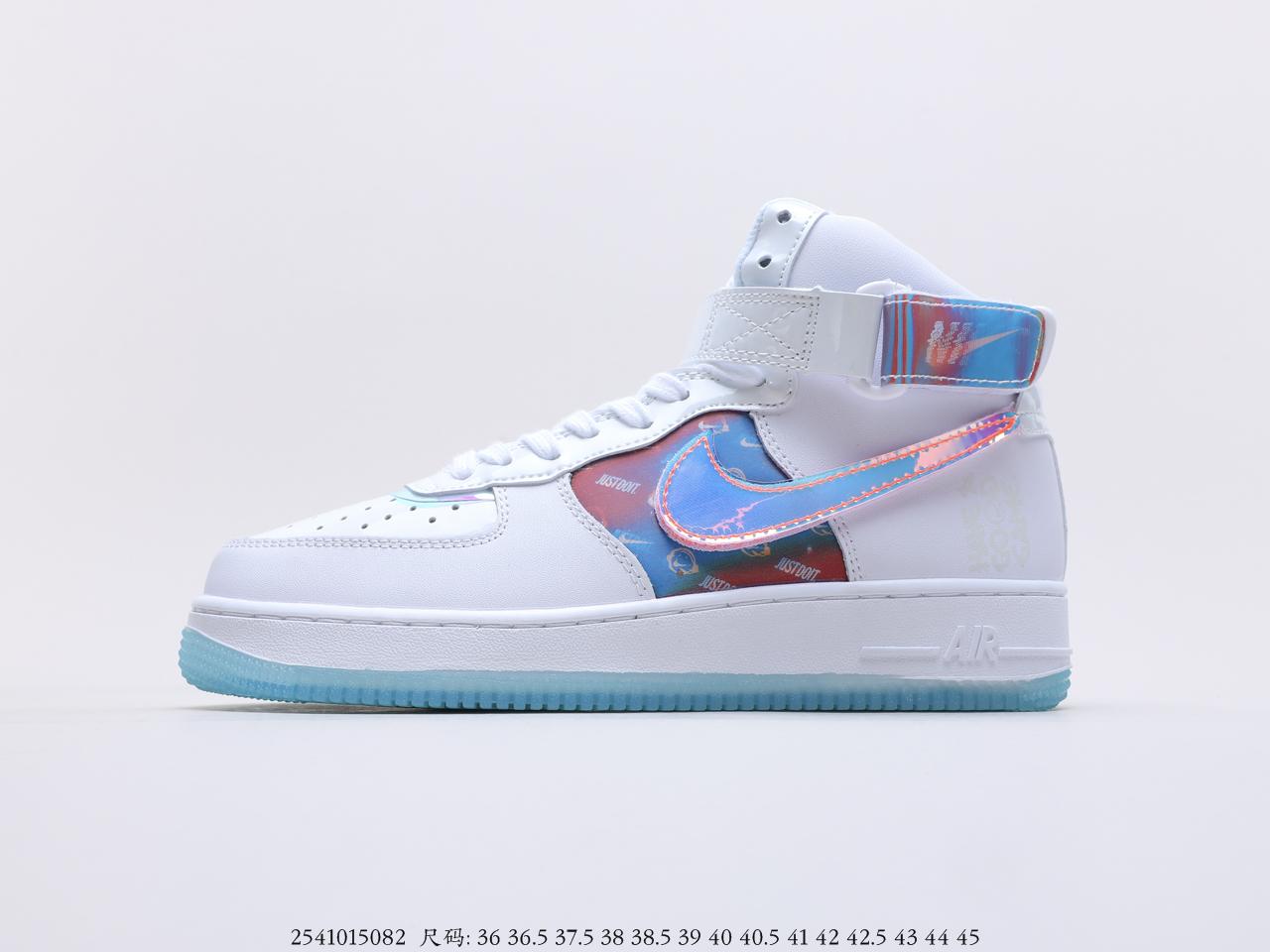 耐克 Nike Air Force 1 '07 Mid空军一号中帮电玩镭射百搭休闲运动板鞋